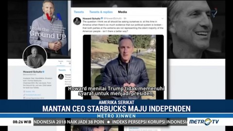 Mantan Bos Starbucks di Bursa Capres AS