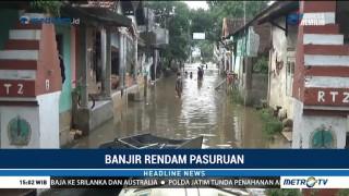 Ratusan Rumah di Pasuruan Terendam Banjir