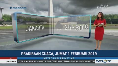 Prakiraan Cuaca: Jumat, 1 Februari 2019