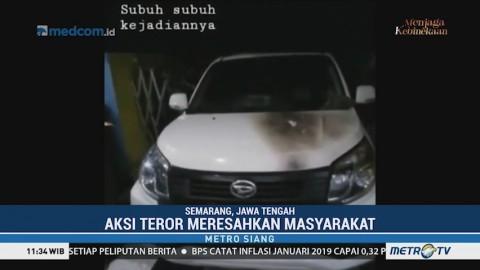 Teror Pembakaran Kendaraan di Semarang Terekam CCTV