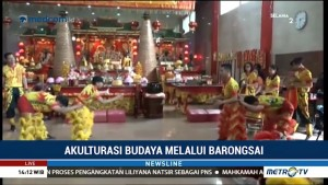 Aksi Komunitas Barongsai Makassar Jelang Imlek