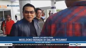 Cuaca Buruk, Pesawat yang Ditumpangi Moeldoko Gagal Mendarat di Manado