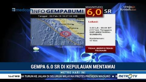 Gempa 6 SR Guncang Kepulauan Mentawai