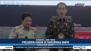 Jokowi Hadiri Rakornas BNPB