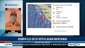 Belum Ada Laporan Kerusakan Akibat Gempa Mentawai