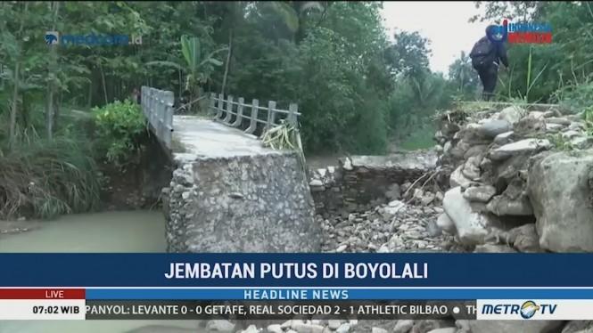 Jembatan di Boyolali Putus Diterjang Banjir Besar