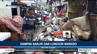 Korban Banjir dan Longsor di Manado Krisis Air Bersih
