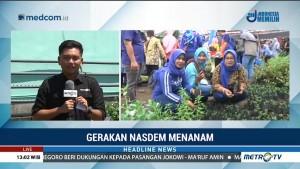 NasDem Ajak Warga Kediri Bertani