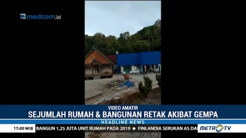 Sejumlah Bangunan di Mentawai Retak Akibat Gempa