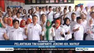 TKD Jokowi-Ma'ruf Palembang Resmi Dilantik