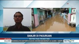 Banjir Surut, Warga Pasuruan Mulai Bersihkan Rumah