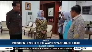 Jokowi Jenguk Cucu Jusuf Kalla