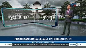 Prakiraan Cuaca: Selasa, 12 Februari 2019