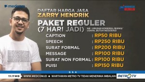 Ini Daftar Harga Jasa Pembuatan 'Caption' dari Zarry Hendrik
