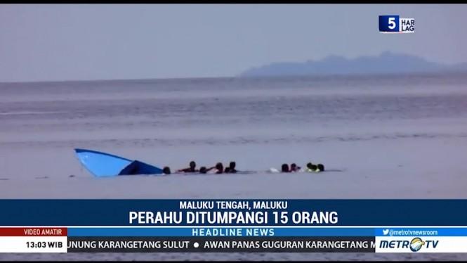 Perahu Terbalik di Pantai Negeri Rutah, Dua Bocah Tewas