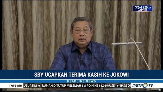 SBY Ucapkan Terima Kasih ke Jokowi