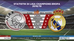Preview Ajax vs Madrid: Misi Sulit Pertahankan Tren Tak Terkalahkan Tuan Rumah