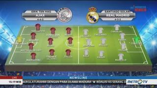 Perkiraan Formasi Ajax vs Real Madrid