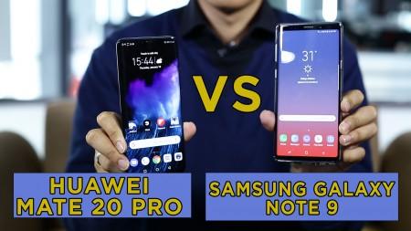 Komparasi Huawei Mate 20 Pro VS Samsung Galaxy Note 9