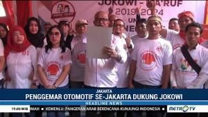 Penggemar Otomotif se-Jakarta Dukung Jokowi-Ma'ruf