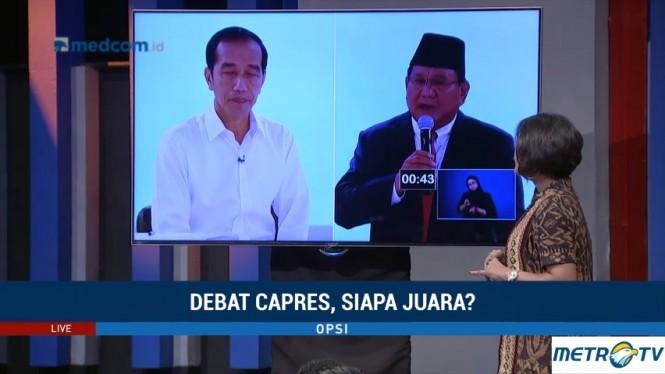Opsi - Debat Capres, Siapa Juara? (2)