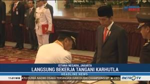 Jokowi Lantik Gubernur-Wagub Riau