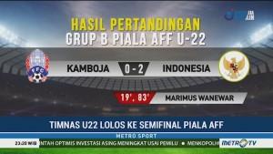 Timnas U-22 Lolos ke Semifinal Piala AFF