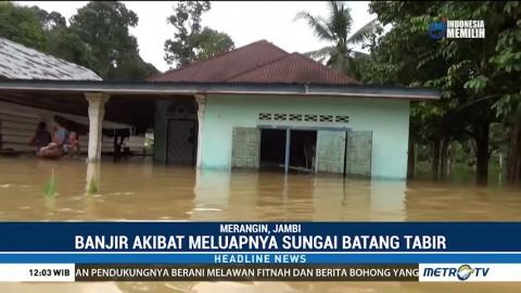 Lima Desa di Merangin Terendam Banjir