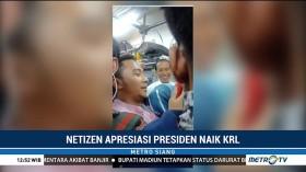 Warga Berbondong-bondong Abadikan Momen Segerbong dengan Jokowi