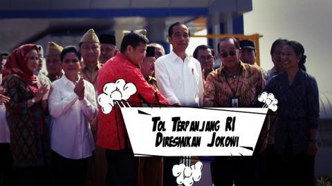 Tol Terpanjang RI Diresmikan Jokowi