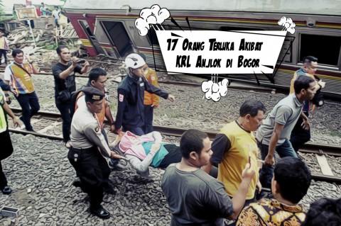 17 Orang Terluka Akibat KRL Anjlok di Bogor