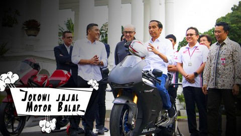 Jokowi Jajal Motor Balap