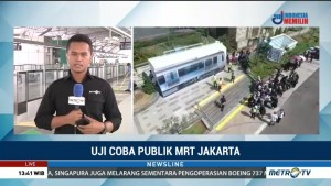 Suasana Uji Coba MRT Jakarta