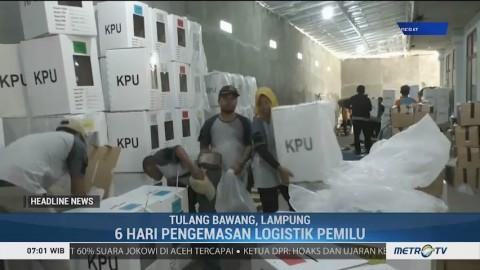KPU Tulang Bawang Lakukan Pengepakan Logistik Pemilu