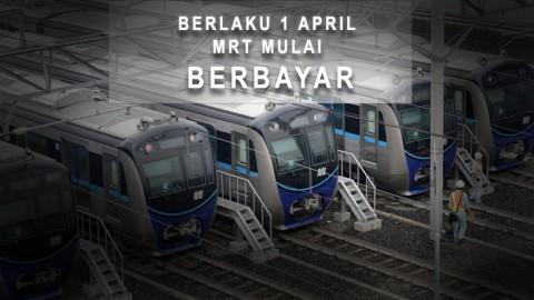 Berlaku 1 April, MRT Mulai Berbayar