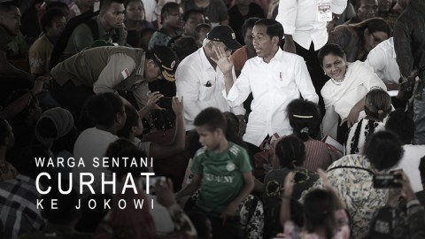 Korban Banjir Bandang Sentani Curhat ke Jokowi