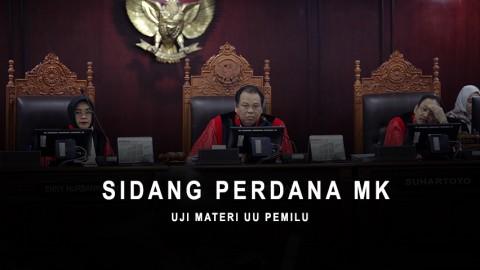 Sidang Perdana MK Uji Materi UU Pemilu