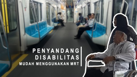 Penyandang Disabilitas Mudah Menggunakan MRT