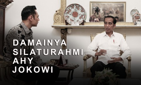 Damainya Silaturahmi AHY Jokowi