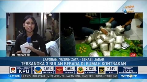 Gudang Narkoba Berkedok Rumah Kontrakan di Bekasi