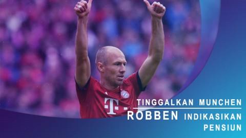Tinggalkan Muenchen, Robben Indikasikan Pensiun