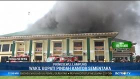 Kantor Bupati Pringsewu Terbakar