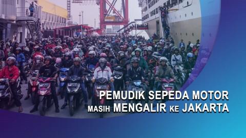 Pemudik Sepeda Motor Masih Mengalir ke Jakarta
