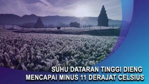 Suhu Dataran Tinggi Dieng Mencapai Minus 11 Derajat Celsius