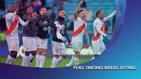 Bantai Chile, Peru Tantang Brasil di Final