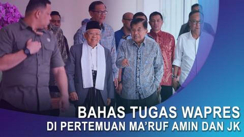 Ma'ruf Amin bertemu JK Bahas Tugas Wapres