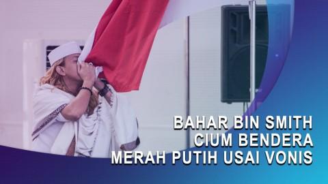 Bahar bin Smith Cium Bendera Merah Putih Usai Vonis