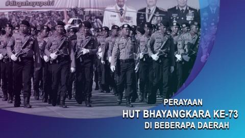 Perayaan HUT Bhayangkara ke-73 di Beberapa Daerah