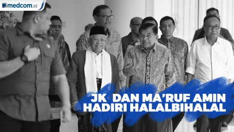 Jusuf Kalla dan Ma'ruf Amin hadiri Halalbihalal DMI dan MUI