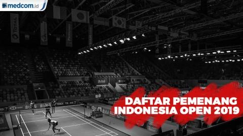 Inilah Daftar Pemenang Indonesia Open 2019